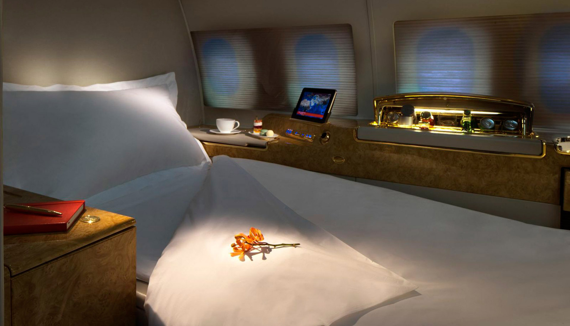 Private suites in sleeping configuration