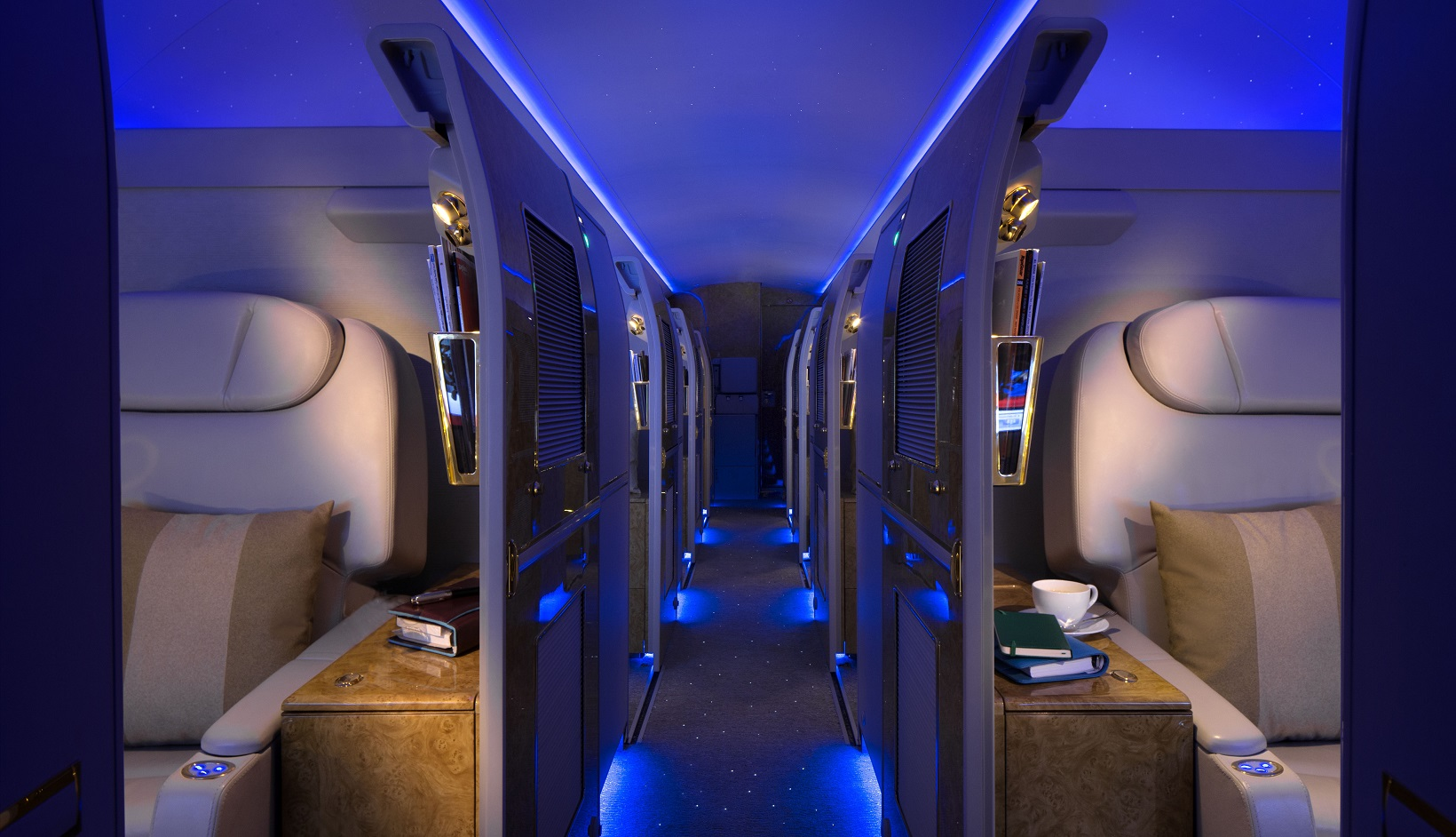Emirates executive jet for Interieur avion